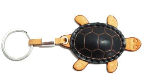 Tony Perotti italien VEGETALE Cuir tortue porte-clés TP0127 Noir