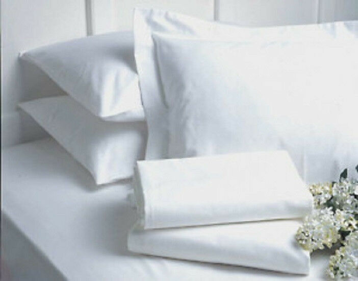 48  new  pillow cases covers standard bright white t-180 hotel gold label 20x32