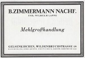 Mehlhandlung-Zimmermann-Gelsenkirchen-Reklame-1925-Mehl-Muehle-Lappe-Mueller