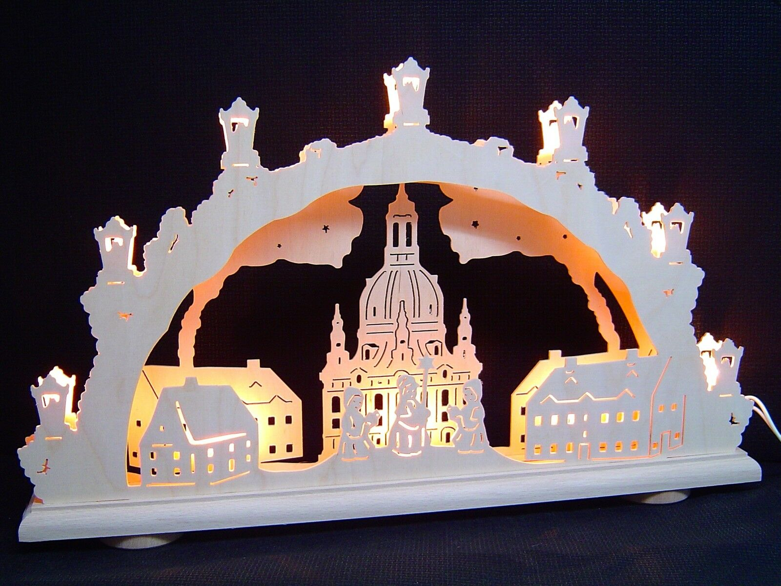 2D Arc Arc lumineux Frauenkirche de Dresde Kurrende 48 x 29 cm 10502