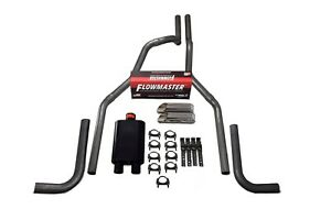 """88-95 Chevy GMC 1500 Stainless 2.5/"""" Dual Exhaust Kit Flowmaster 40 Black Tips"""