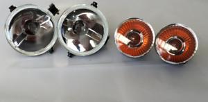 LAND-Rover-Defender-NUOVO-Indicatore-anteriore-stile-SVX-amp-Lato-Faretti-Luce-Set
