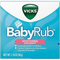 2 Pack - Vicks Babyrub Soothing Ointment Comfort For Babies 1.76oz Each on sale