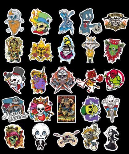 50 waterproof stickers gothic skull vinyl sticker  longboard bike