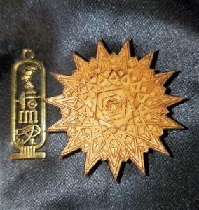 Pentadecagon Sacred Geometry Mandala Laser Cut Engraved & Nefertiti Cartouche