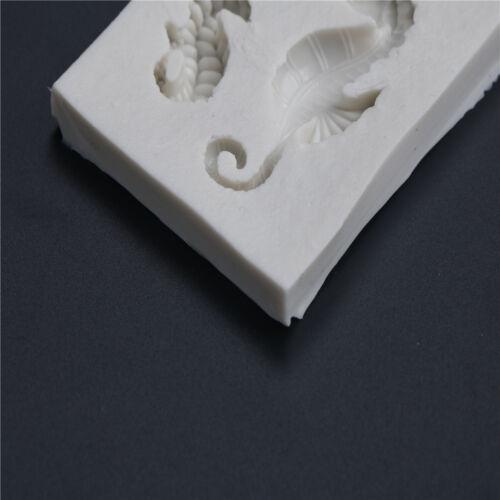 Sea Horse Silicone Fondant Mold Cake Decorating Tools Chocolate Gumpaste Mold ZT