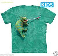 Funny Chameleon T-shirt/wild Green Tie Dye Tee,lol,funny Gecko,kid's Tee