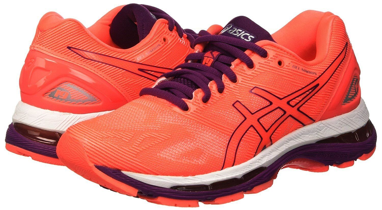 NEW WOMENS ASICS GEL-NIMBUS 19 RUNNING TRAINING SHOES - 6   EUR 37 -  160 CORAL