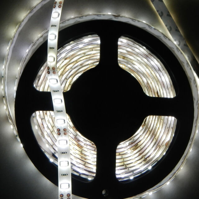 12V Nature White 4000k-4500k Waterproof 5630 300SMD 5meter Flexible led Strip