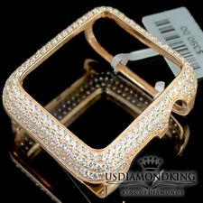 Series 2 Bling Apple Watch Bezel Rose Gold Plated Lab Diamonds 38 mm Custom