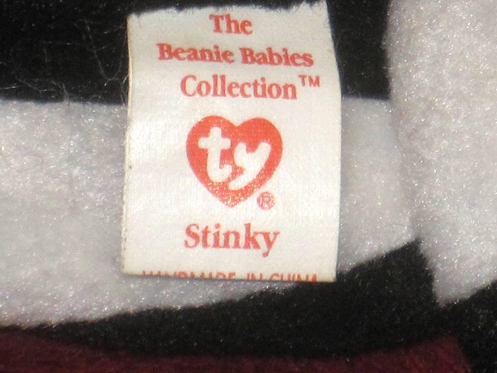 Ty Beanie Baby Stinky 1995 P V C Pellets Errors Errors Errors 1684f5