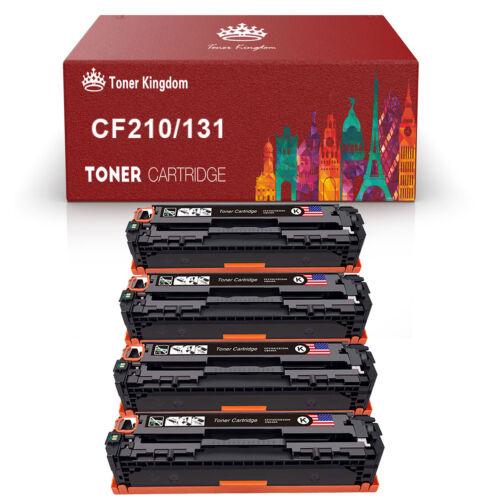 4 Pack Black Toner Cartridges 131X for HP CF210X LaserJet Pro200 M251n M276 nw