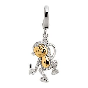 1-10-ct-Diamond-Monkey-Charm-in-Sterling-Silver-amp-14K-Gold