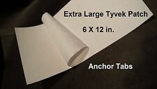 "6X12"" Extra Large Adhesive Tyvek Patch for Tent Footprints & Ground Cloth Sheets"