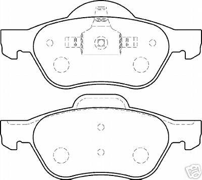 """RENAULT Laguna Mk2 01 /> PLAQUETTES DE FREIN AVANT 16 /"""" 17/"""" Roues"""