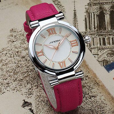 Classic Women's Wristwatch Leather Strap Quartz Luxury Dress Elegant Lady Watch