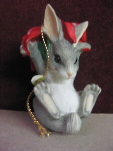 CHARMING TAILS BINKEY/'S PIONSETTIA 87303 BY DEAN GRIFF Christmas RARE NEW FRESH