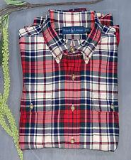 vtg Montgomery Ward Lightweight Flannel Shirt size Large Tall LT ~ 1a371