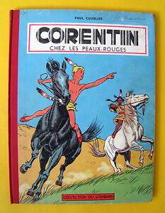 CORENTIN-CHEZ-LES-PEAUX-ROUGES-CUVELIER-EO-1956-BON-ETAT