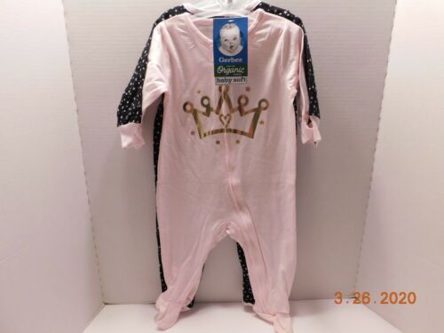 Gerber 2 Baby Girl's Zippered Footie Sleepers Size 3-6 Months Mixed Lot NWT