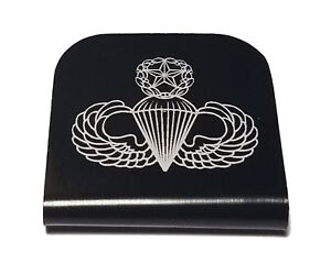 954c4df7a2af Details about Master Jump Wings Hat Clip - Black for Tactical Patch Caps by  Morale Tags