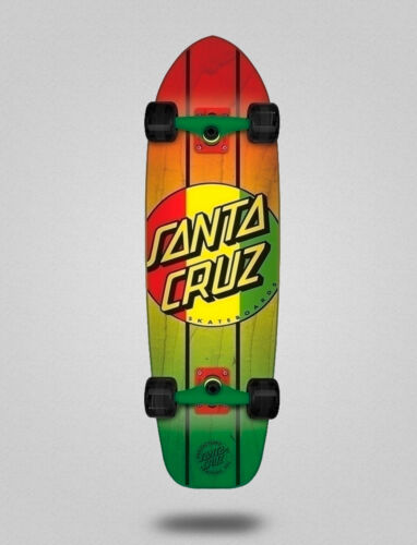 RASTA DOT JAMMER MID 9.22 X 33 Skate longboard cruiser complete ¨Santa Cruz¨
