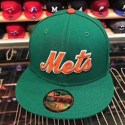 New Era 59fifty Nuovo York Mets Aderente Cappello All Verde/arancione Per Jordan