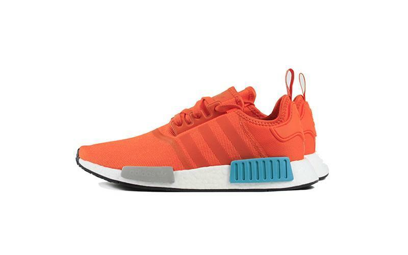 f6a578ae0 Adidas NMD R1 orange Men s Mesh Boost 3 Stripes Energy blueeeeeeeee Running  G26511 nntmot9082-Men