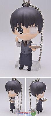 Tokyo Ghoul Swing Mascot PVC Keychain SD Figure ~ Ken Kaneki in Coffee Suit@8583
