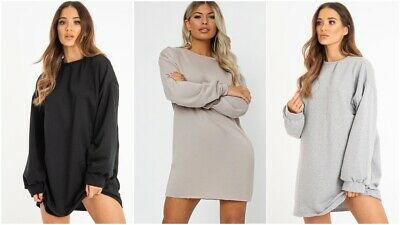 Unparteiisch Uk Womens Ladies Oversized Baggy Loose Pullover Sweatshirt Coat Jumper Dress Top