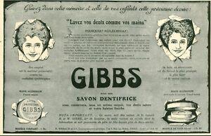 Publicite-ancienne-savon-dentifrice-GIBBS-1915