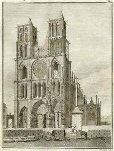 Architecture-View-de-Notre-Dame-de-Praying-Millin-Engraving-Original-18th