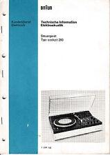 Service Manual-Anleitung für Braun Cockpit 260