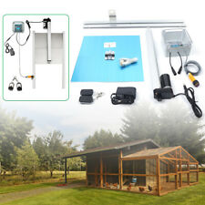 Automatic Chicken Coop Door Opener Timer Operated Complete Pet Kit Backyard Hot