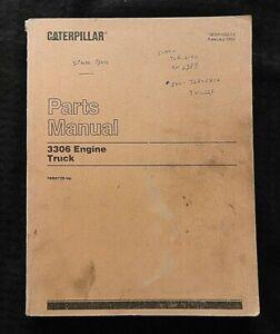 CATERPILLAR 3306 DIESEL TRUCK ENGINE PARTS CATALOG MANUAL SERIAL #76R2779 & UP