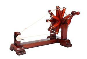 ANTIQUE Instrument WORKING TEAK WOODEN CHARKHA SPINNING WHEEL handmade decor