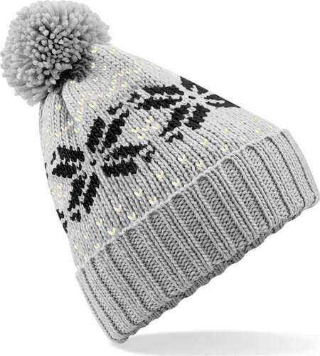 Strickmütze Damen Norweger Mütze Wintermütze Bommelmütze Neverless®