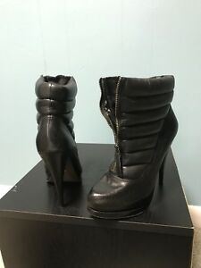 932248d6bb Image is loading Womens-Steven-Black-Leather-Ankle-Boots-Size-8