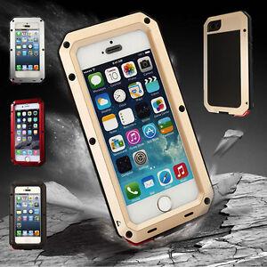 Aluminum-Gorilla-Glass-Metal-Waterproof-Case-Cover-For-iPhone-6-6S-5S-4S-5C-Plus
