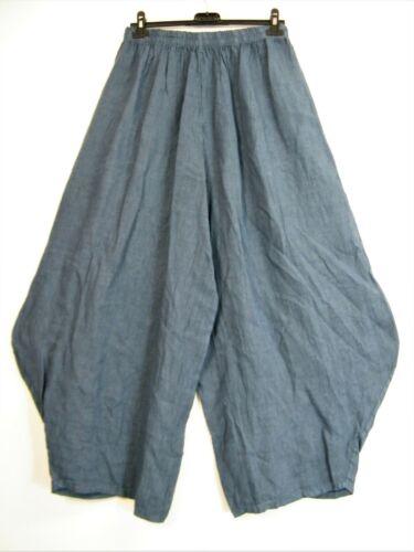 Neuf Plus Taille Taille Unique Lagenlook Baggy 100/% Lin Italien Pantalon 8 Couleurs