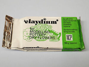 Pottery Clay White Newclay Claydium 1kg Air Drying Reinforced Modelling