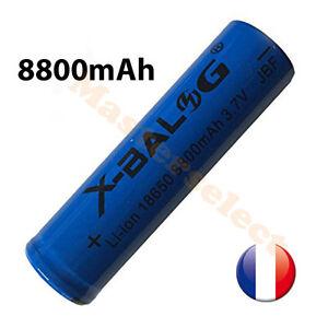 Pile batterie lipo li-ion 8800mAh 3.7v 18650 batterie rechargeable pour lampe