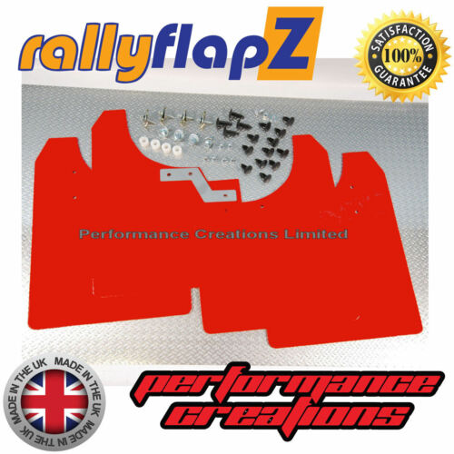 05-11 RallyflapZ Pour S/'adapter Vauxhall Astra VXR Bavettes Bavettes Rouge 4 mm PVC