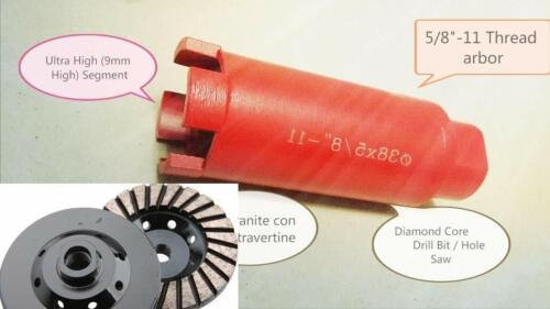 """2/"""" 52mm diamond hole saw core drill bit 5 Inch Turbo Cup concrete stone granite"""
