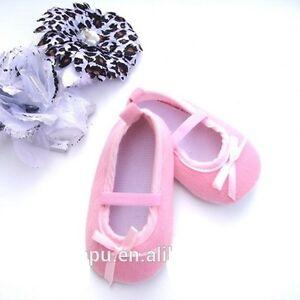 Bebé Niña Rosa Baby crib/pram De Zapatos De Ballet guía de tamaño en listado