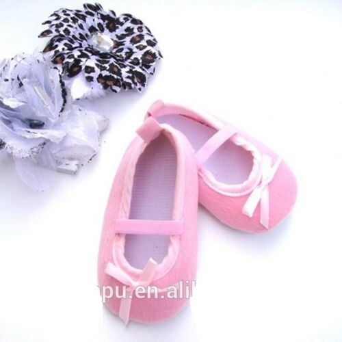 BABY GIRL PINK BABY CRIB//PRAM BALLET  SHOE SIZE GUIDE IN LISTING