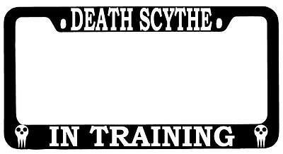 Black METAL License Plate Frame Death Scythe In Training Auto Soul Eater