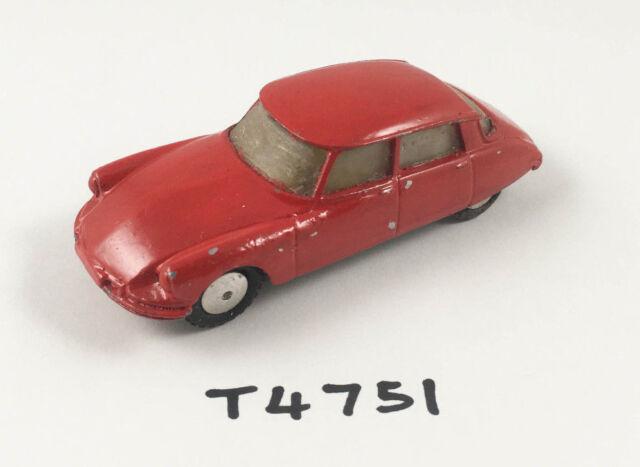 VINTAGE CORGI # 210S CITROEN DS19 ORIGINAL DIECAST CAR RED 1960-64 OVERPAINTED