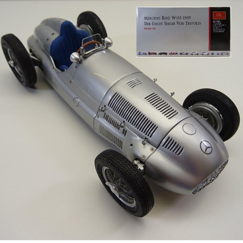 1 18 CMC m-018 Mercedes Benz w165 1939 LE GRAND vainqueur de Tripoli neuf dans sa boîte c4009
