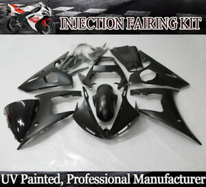 Details about Matte Black Fairing Kit for Yamaha YZF R6 2003-2004 / R6S  06-09 ABS Bodywork